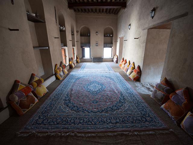 Interiér pevnosti Nizwa